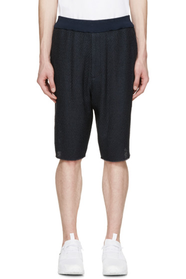3.1 Phillip Lim - Navy Knit Shorts