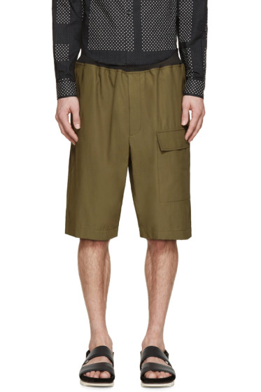 3.1 Phillip Lim - Green Cargo Shorts
