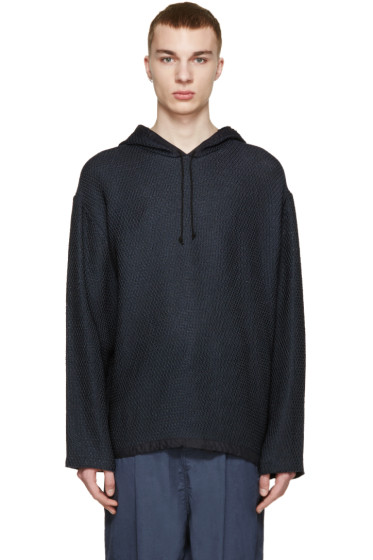 3.1 Phillip Lim - Navy Knit Poncho Sweater