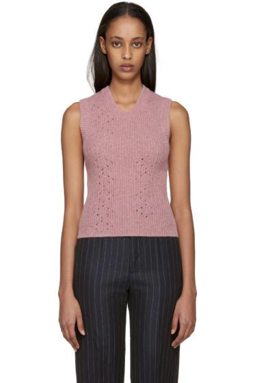 Raf Simons - Pink Wool Sleeveless Sweater
