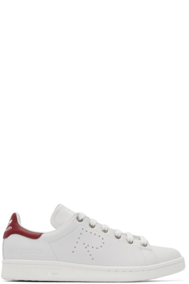 Raf Simons - White & Red Stan Smith adidas by RAF SIMONS Sneakers