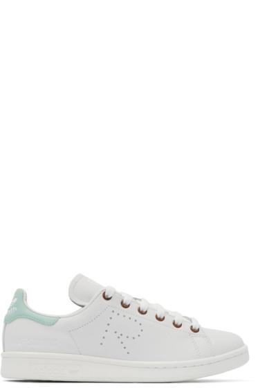 Raf Simons - White & Green Stan Smith adidas by RAF SIMONS Sneakers
