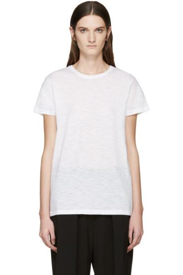 Proenza Schouler - White Slub Cotton T-Shirt