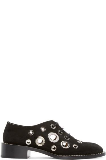 Proenza Schouler - Black Suede Eyelet Shoes