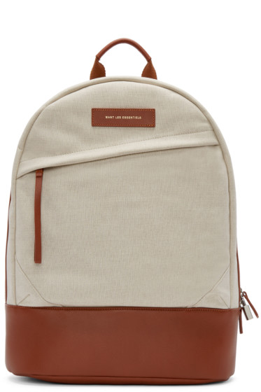 Want Les Essentiels - Ecru Canvas Kastrup Backpack