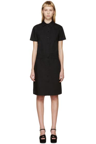 Carven - Black Poplin Shirt Dress