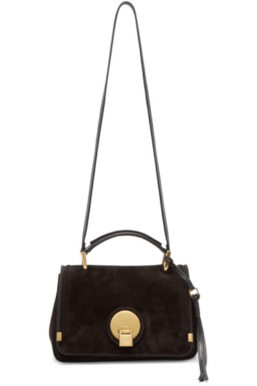 Chloé - Black Suede Small Indy Bag