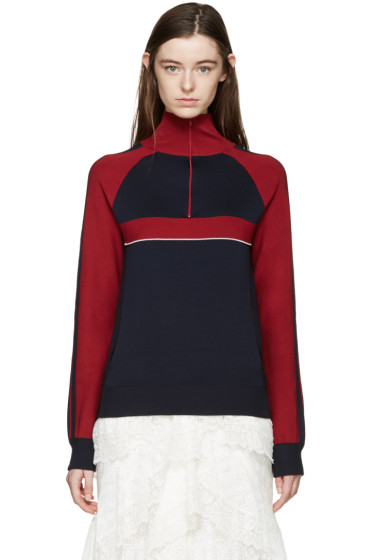 Chloé - Navy Silk Sporty Sweater