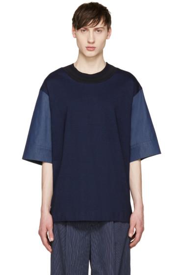 Juun.J - Navy Combination T-Shirt