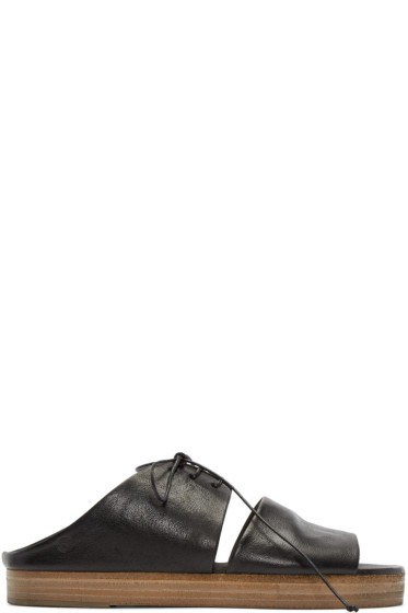Marsèll - Black Leather Gradone Sandals
