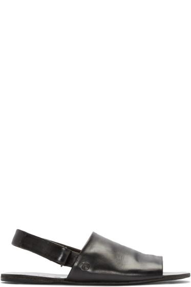 Marsèll - Black Slingback Sandals
