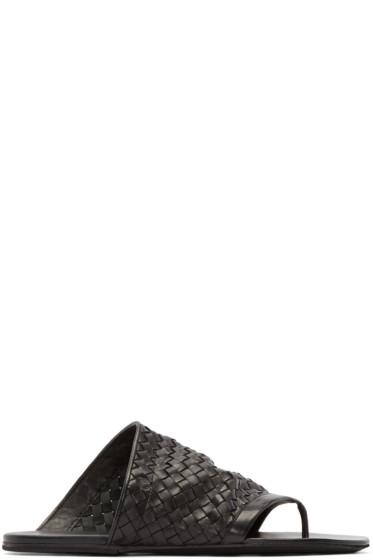 Marsèll - Black Leather Woven Arsella Sandals