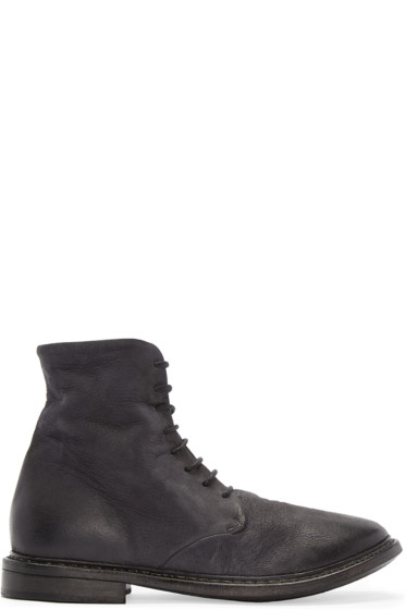 Marsèll - Black Leather Ankle Boots