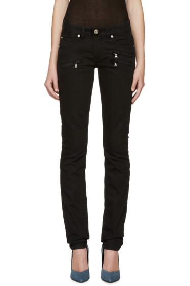 Pierre Balmain - Black Zipper Skinny Jeans