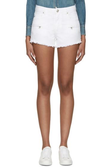 Pierre Balmain - White Denim Shorts