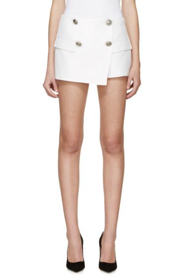 Pierre Balmain - White Skirt Panel Shorts
