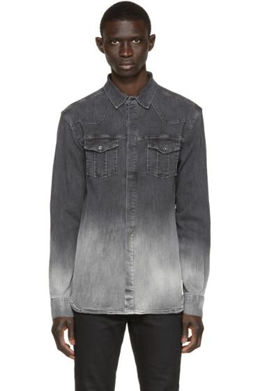 Pierre Balmain - Grey Denim Ombré Shirt