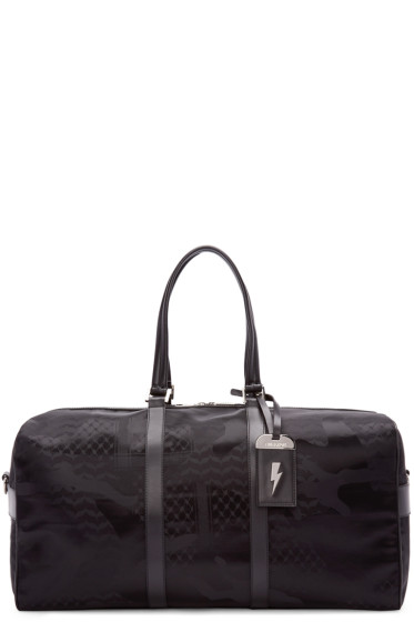 Neil Barrett - Black Camo Print Duffle Bag