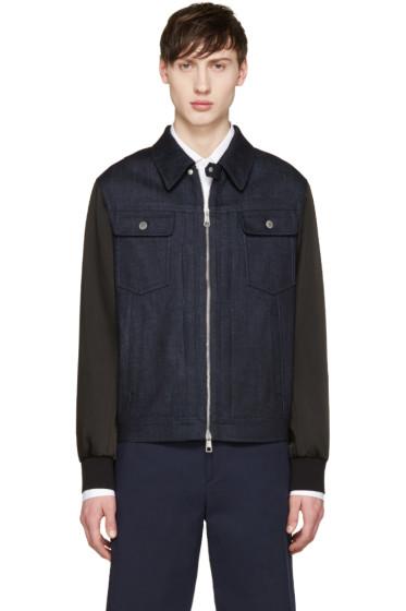 Neil Barrett - Indigo Denim Combination Jacket