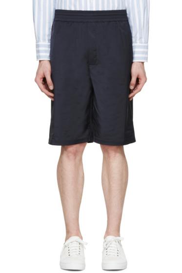 Neil Barrett - Navy Matte Shorts