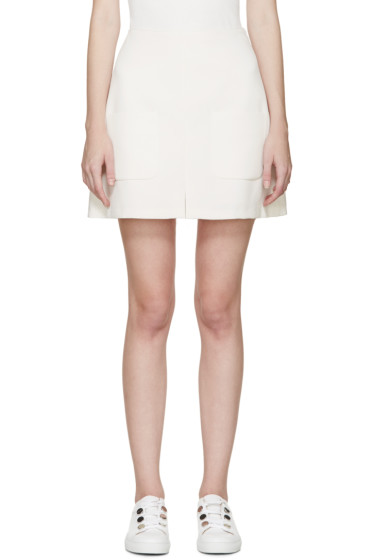See by Chloé - Off-White Crepe Pocket Skirt