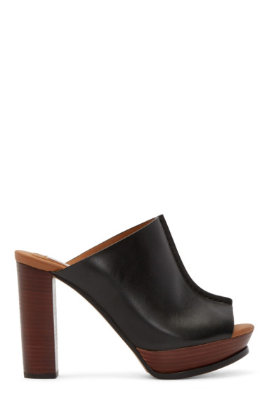 See by Chloé - Black Leather Alex Clogs