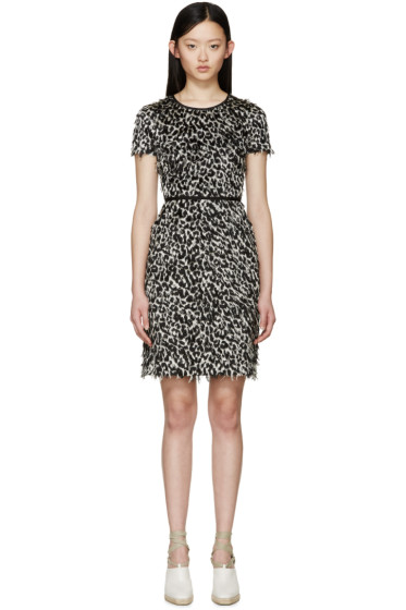 Burberry Prorsum - Black & White Fil Coupé Dress