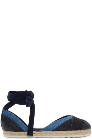 Pierre Hardy - Navy & Blue Denim Bauhaus Beach Espadrilles
