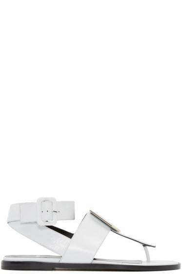Pierre Hardy - White De D'Or Cube Sandals