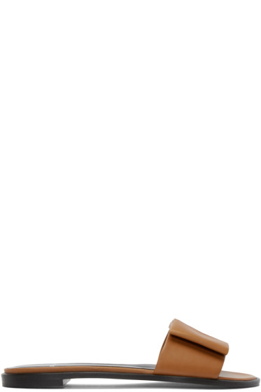 Pierre Hardy - Brown Leather Obi Flat Sandals