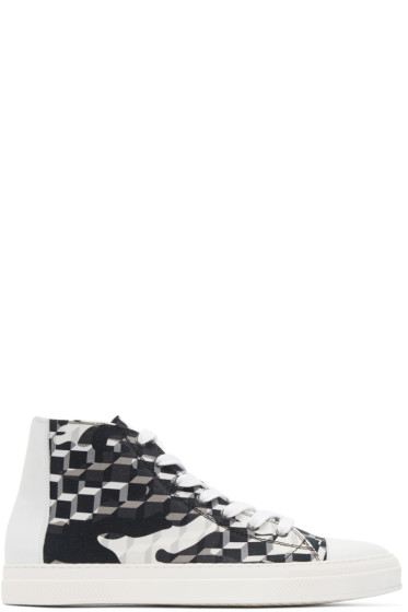 Pierre Hardy - Black & White Cube Frisco Sneakers