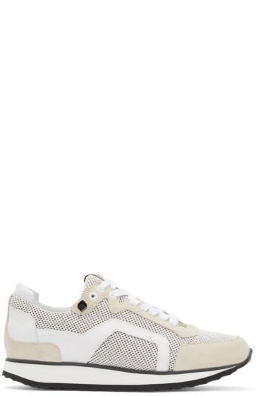 Pierre Hardy - White Mesh Sneakers