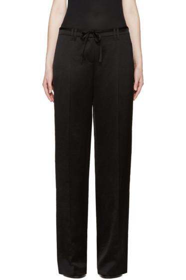Ann Demeulemeester - Black Satin Delight Trousers