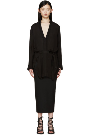 Ann Demeulemeester - Black Vented Victoria Blouse