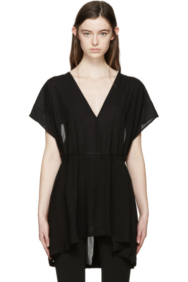 Ann Demeulemeester - Black Belted Kennedy Blouse