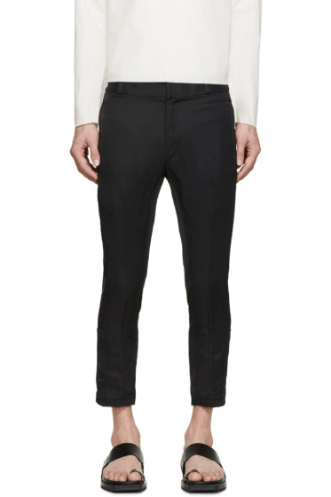 Ann Demeulemeester - Black Biker Keating Trousers