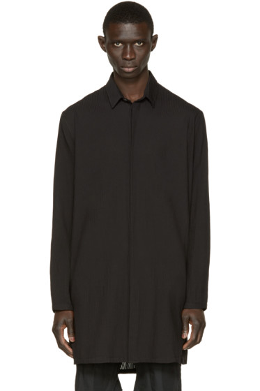 Ann Demeulemeester - Black Long Striped Shirt