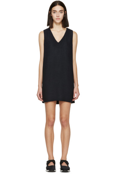 Marni - Navy Woven Tunic Dress
