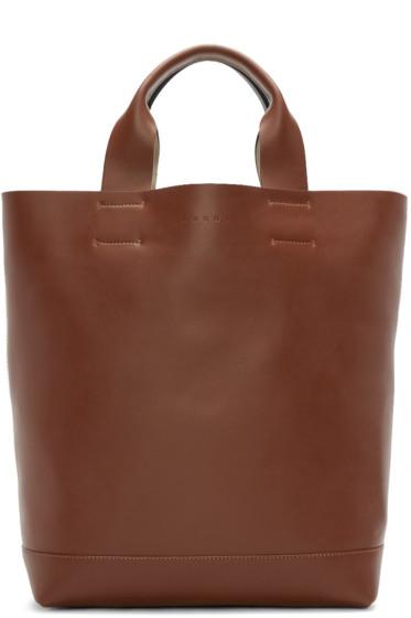 Marni - Brown & Green Leather Tote