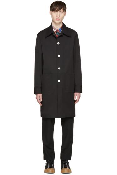 Marni - Black Poplin Vented Coat