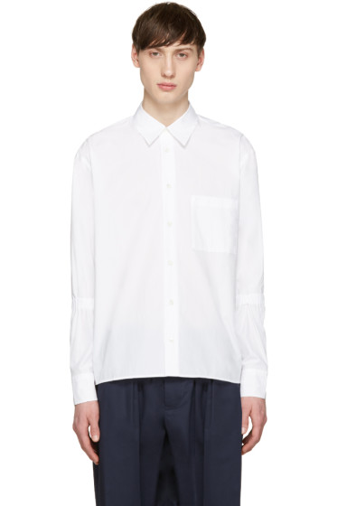 Marni - White Elasticized Sleeve Shirt
