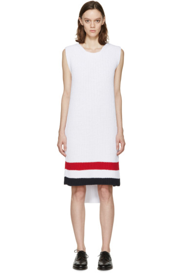 Thom Browne - White Knit Sweater Dress