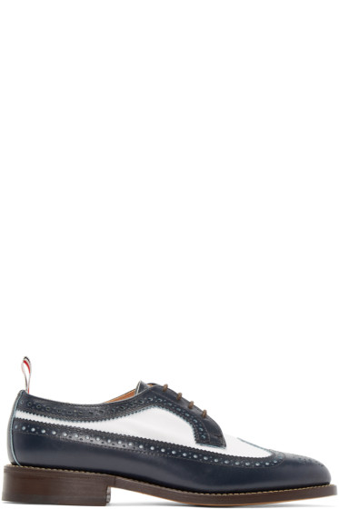 Thom Browne - Navy Classic Longwing Brogues