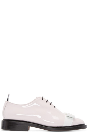 Thom Browne - Pink Patent Leather Bow Derbys