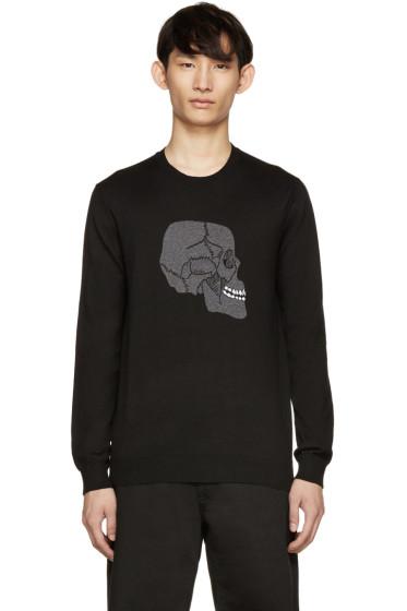 Markus Lupfer - Black Happy Skull Intarsia Pullover