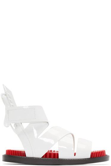 Kenzo - White & Red Footbed Sandals