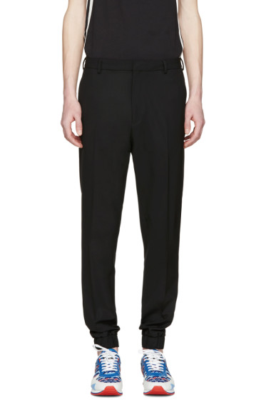 Kenzo - Black Wool Elasticized Trousers