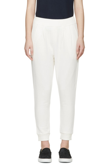 Maison Kitsuné - White Fancy Jog Lounge Pants