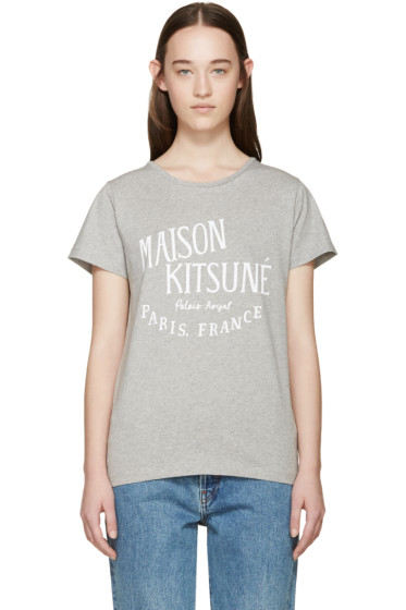Maison Kitsuné - Grey Palais Royal T-Shirt