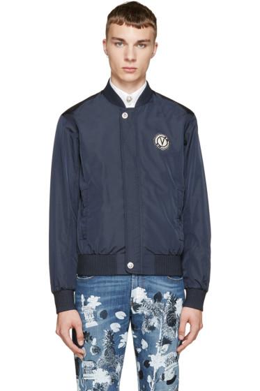 Versus - Navy Nylon Anthony Vaccarello Edition Bomber Jacket